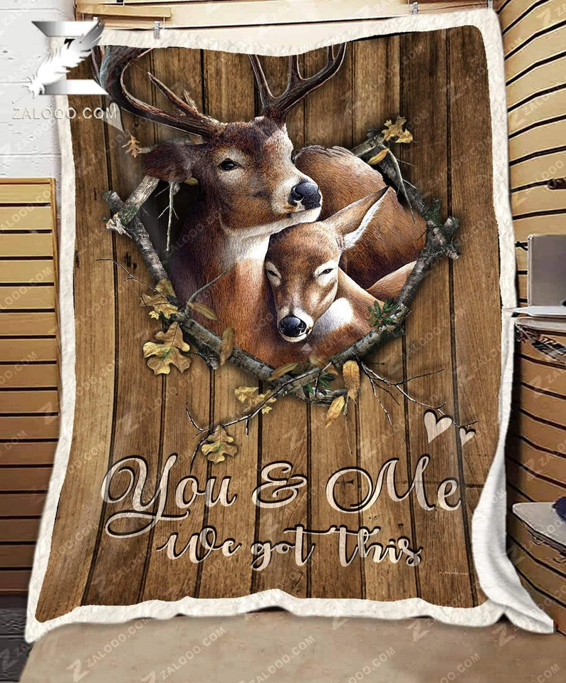 Deer Couple to My Boyfriend I Want to Be Your Last Everything Fleece Blanket