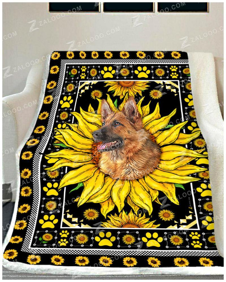 BLANKET GERMAN SHEPHERD Sunflower