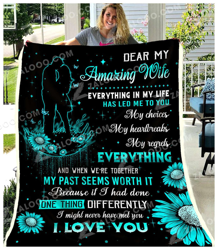 Fleece Blanket - To My Wife - Everything in my life - yenyenstore