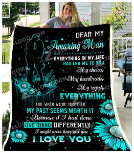 Fleece Blanket - To My Man - Everything in my life - yenyenstore
