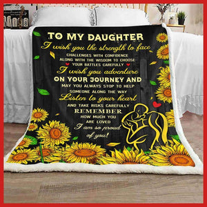 BLANKET - DAUGHTER - I wish you the strength - yenyenstore