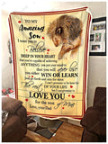BLANKET LION Son (Dad) Love you for the rest of mine - Zalooo.com Custom Wall Art Canvas
