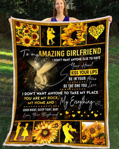 BLANKET TO MY AMAZING GIRLFRIEND I Don't Want - Zalooo.com Custom Wall Art Canvas