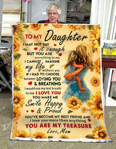 BLANKET - DAUGHTER (Mom) - You Are My Treasure