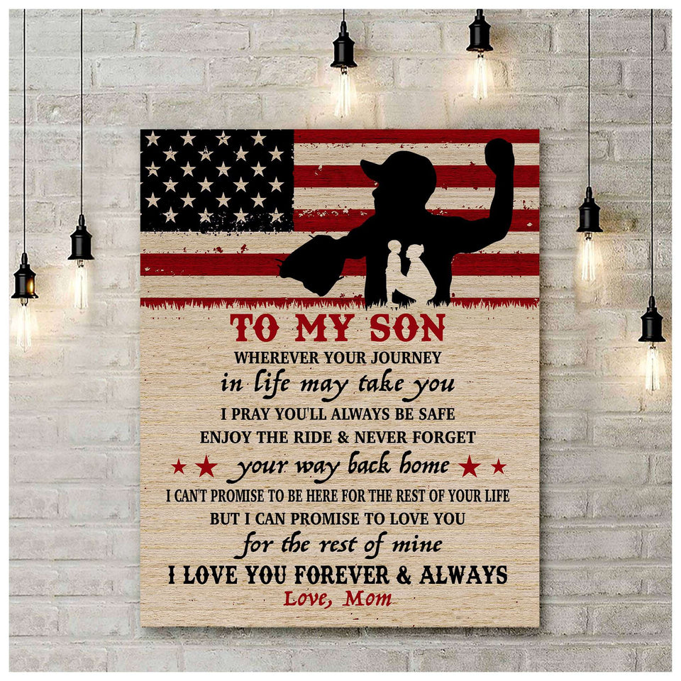 CANVAS - BASEBALL - Son - Wherever your journey in life may take you - yenyenstore