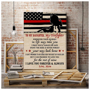 CANVAS - Firefighter Daughter - Wherever your journey in life may take you - yenyenstore