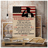 CANVAS - Army Daughter - Wherever your journey in life may take you - yenyenstore