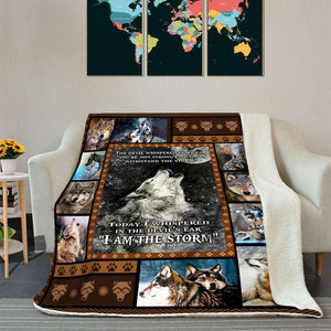 BLANKET - WOLF - I am the Storm - yenyenstore