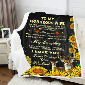 BLANKET - HUNT - To my wife - My everything - yenyenstore