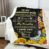 BLANKET - To my Wife - My everything (Airman) - yenyenstore