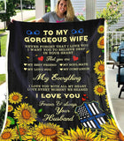 BLANKET - POLICE - To my wife - My everything - yenyenstore