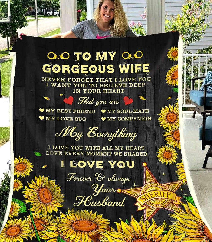 BLANKET - SHERIFF - to my Wife - My everything - yenyenstore