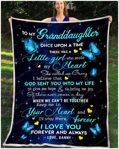 BLANKET BUTTERFLY Granddaughter (Ganny) Once Upon A Time - Zalooo.com Custom Wall Art Canvas