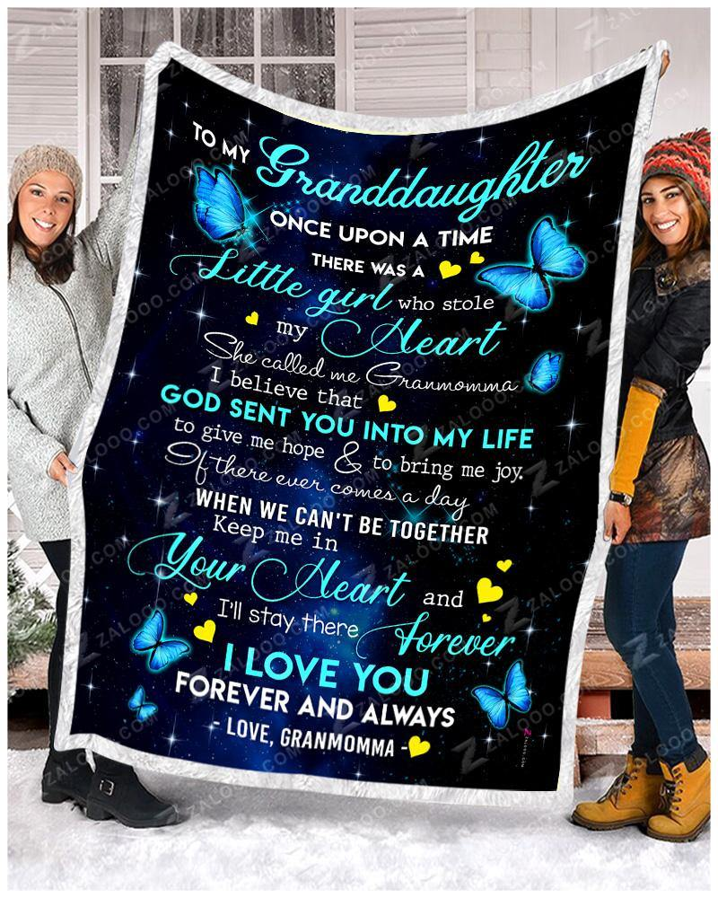 BLANKET BUTTERFLY Granddaughter (Granmomma) Once Upon A Time - Zalooo.com Custom Wall Art Canvas
