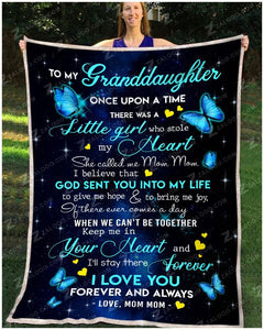 BLANKET BUTTERFLY Granddaughter (Mom Mom) Once Upon A Time