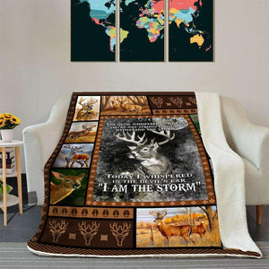 BLANKET - DEER - I am the storm - yenyenstore