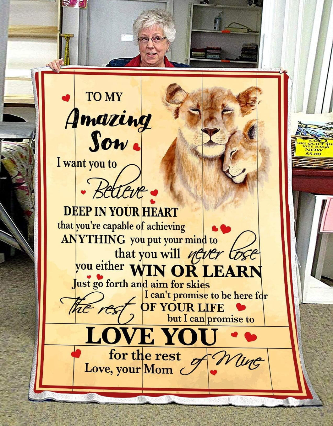 BLANKET - LION - Son (Mom) - Love you for the rest of mine