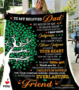 BLANKET - To my beloved Dad - So much of me - yenyenstore