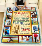 BLANKET To My Wife Thank you for being my life partner - Zalooo.com Custom Wall Art Canvas