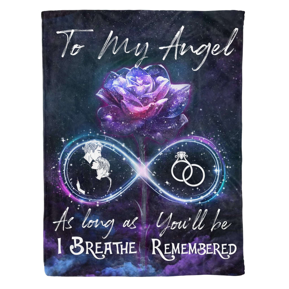Fleece Blanket - To my angel - You'll be remembered - yenyenstore