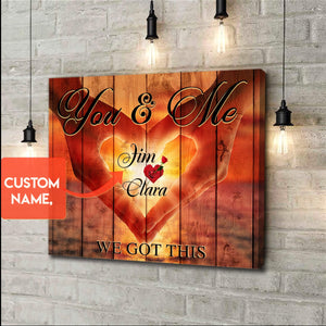 Zalooo You & Me Personalized Name Wall Art Canvas