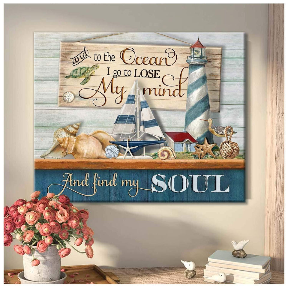 Zalooo And To The Ocean V2 Turtle Wall Art Canvas - Zalooo.com Custom Wall Art Canvas