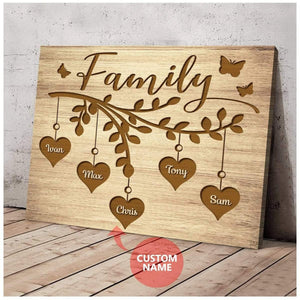Custom Name Canvas -Family - Family Tree
