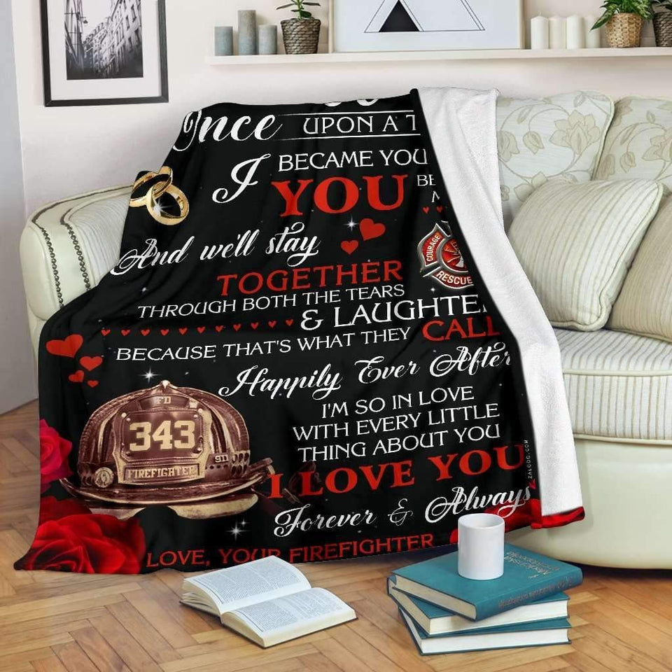 Blanket - Firefighter - Happily ever after - yenyenstore