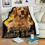 BLANKET - GOLDEN - I love you to the moon and back - yenyenstore