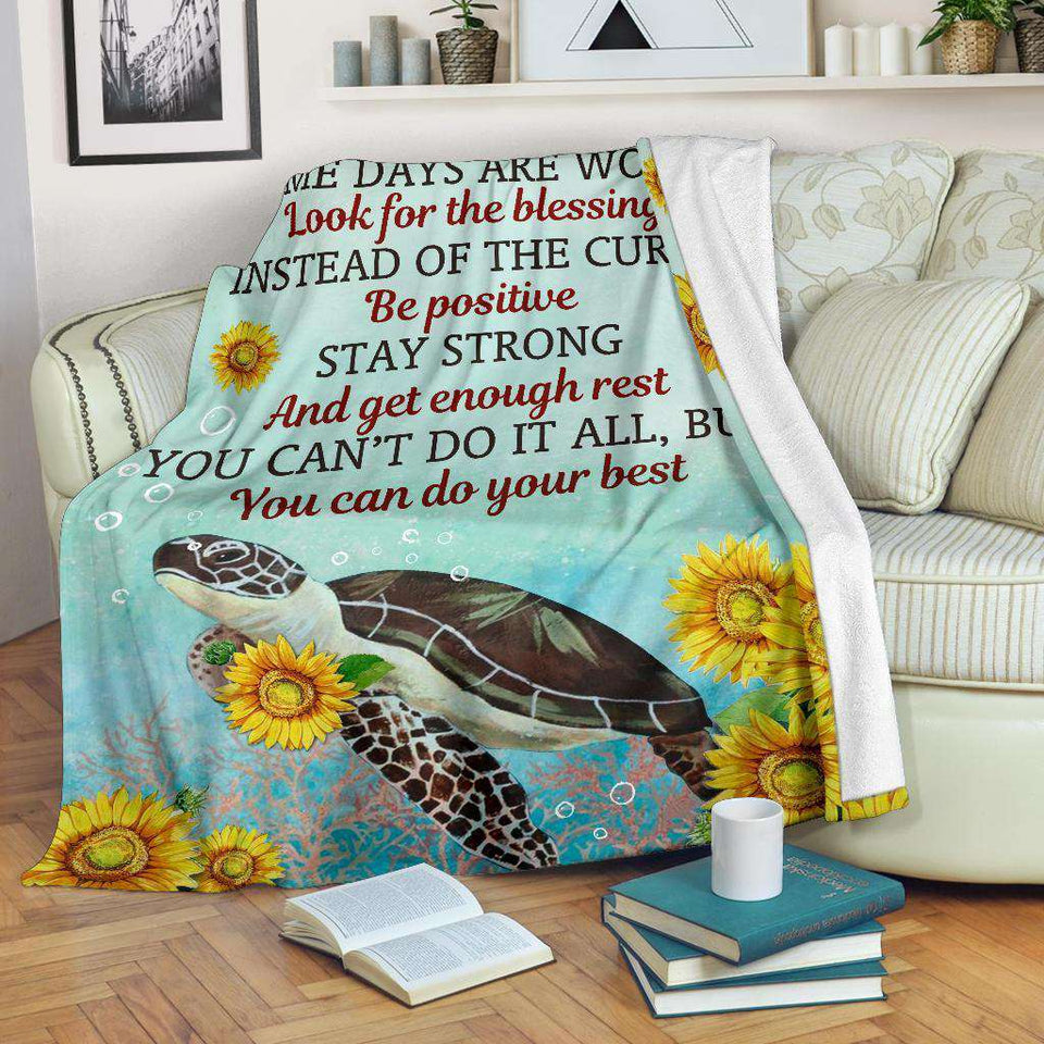 PP - BLANKET - Turtle - Some Days - yenyenstore