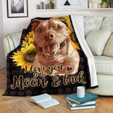 BLANKET - PITBULL - I love you to the moon and back - yenyenstore