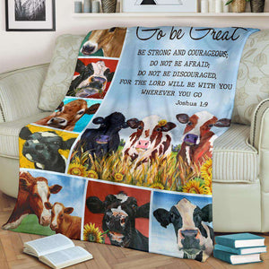 PP - BLANKET - Cow - Go Be Great - yenyenstore