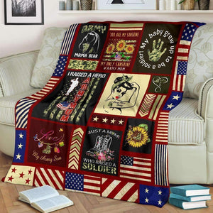 BLANKET - Army Mom Strong - yenyenstore