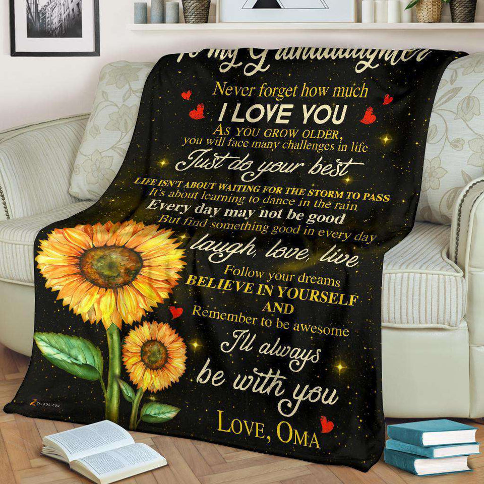 PP - BLANKET - Granddaughter (Oma) - I'll always be with you - yenyenstore