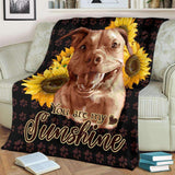 BLANKET - PITBULL - You are my Sunshine - yenyenstore