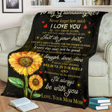 PP - BLANKET - Granddaughter (Mom Mom) - I'll always be with you - yenyenstore