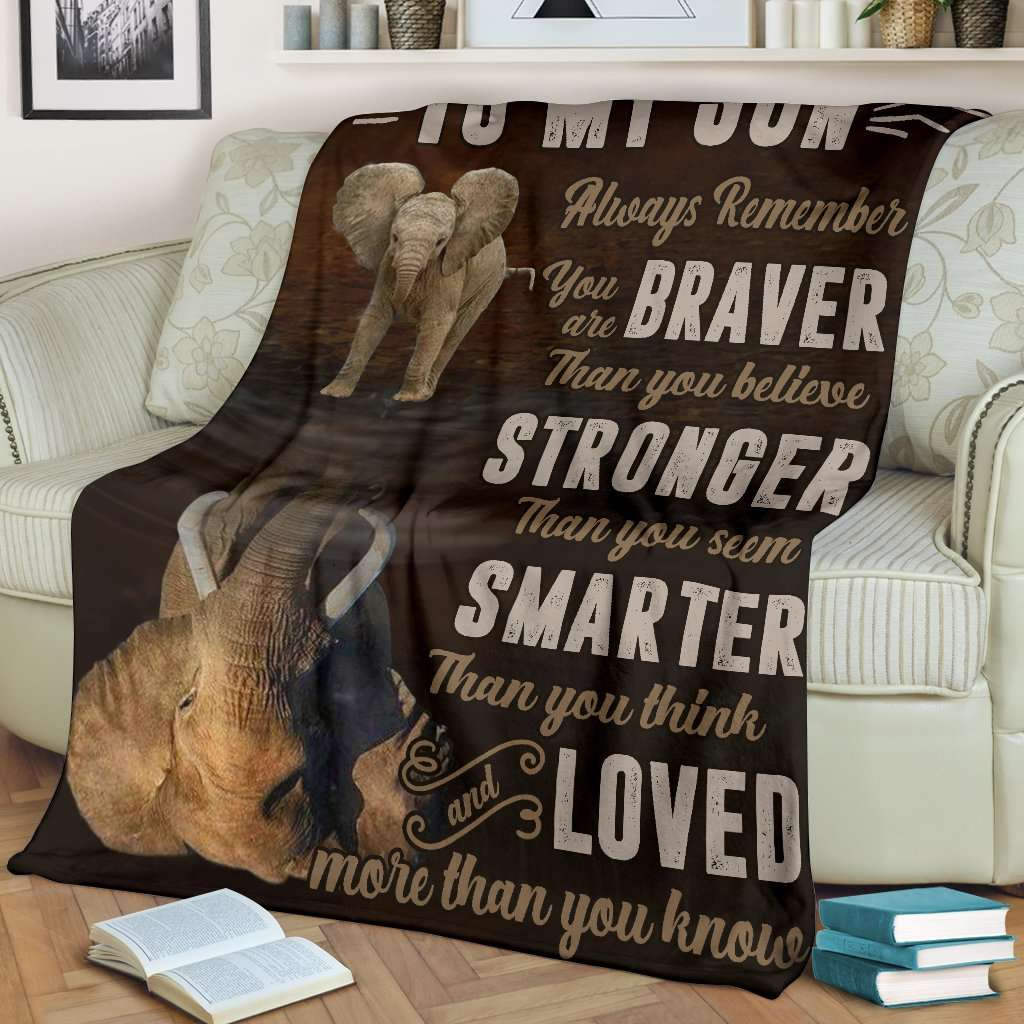 PP - BLANKET - Elephant - To My Son - yenyenstore