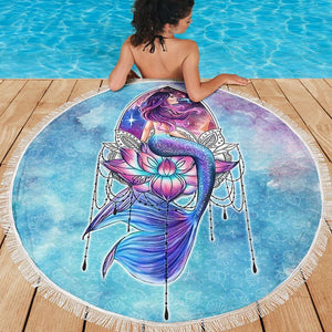 PP - Beach Blanket - Mermaid - yenyenstore