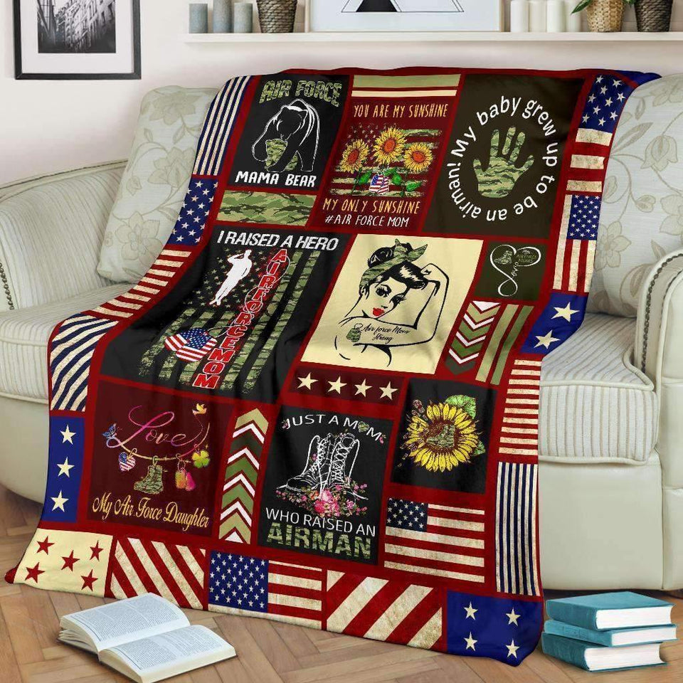 BLANKET - Air Force Mom Strong (Daughter) - yenyenstore