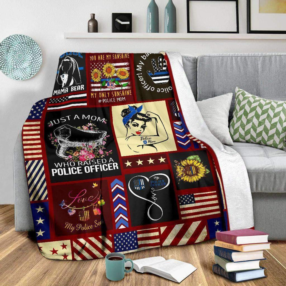 BLANKET - Police Mom Strong - yenyenstore