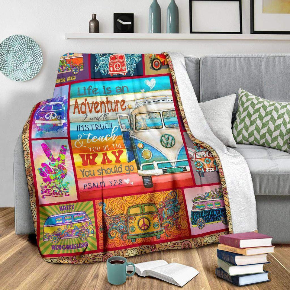 BLANKET - HIPPIE - Life is an adventure - yenyenstore