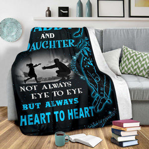 PP - BLANKET - Daddy and Daughter - Heart to Heart - yenyenstore