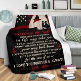 PP - BLANKET - NAVY SOn - Wherever your journey in life may take you - yenyenstore