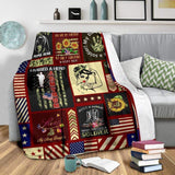 BLANKET - Army Mom Strong (Daughter) - yenyenstore