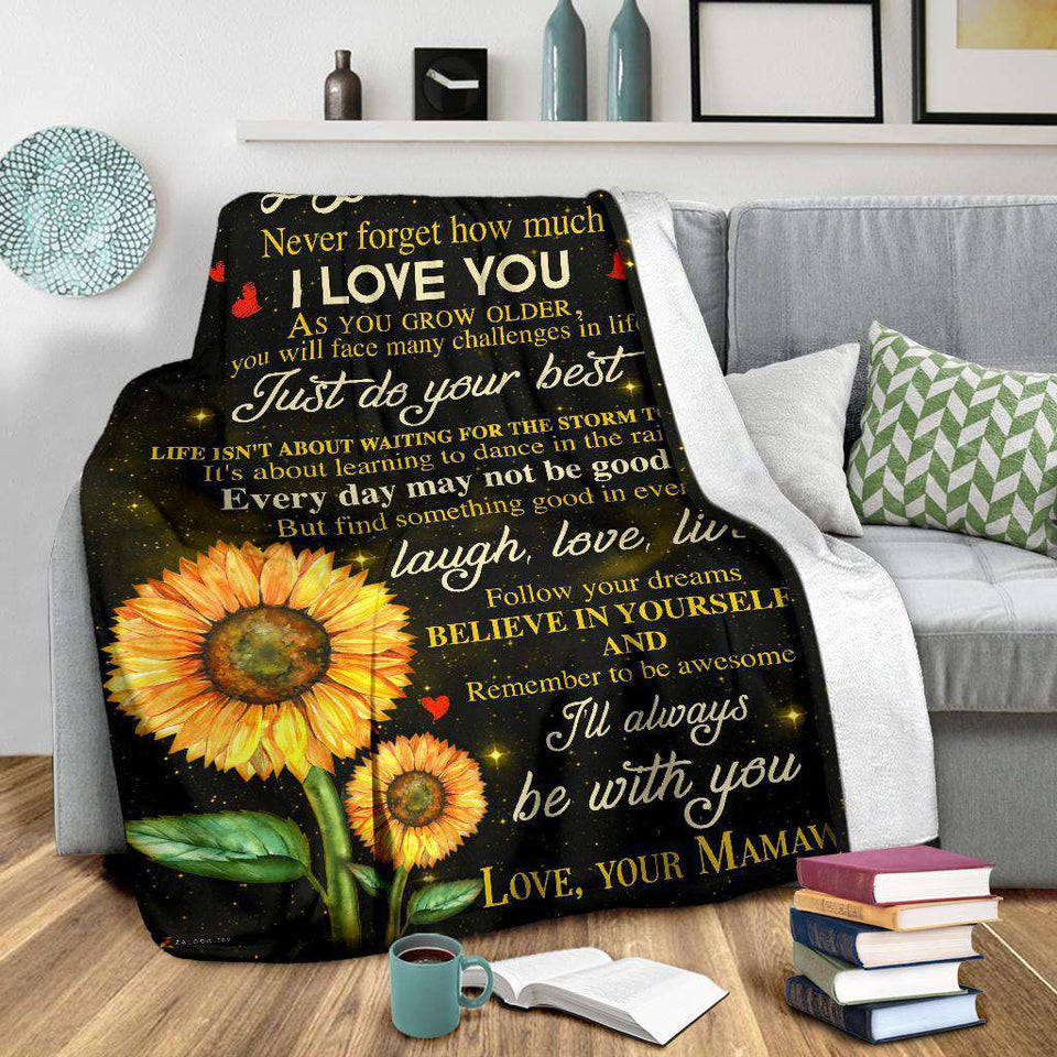 PP - BLANKET - Granddaughter (Mamaw) - I'll always be with you - yenyenstore