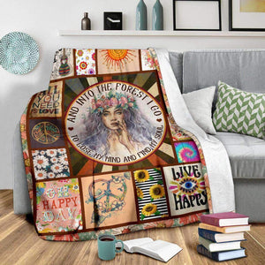 BLANKET - HIPPIE - And into the forest I go - yenyenstore
