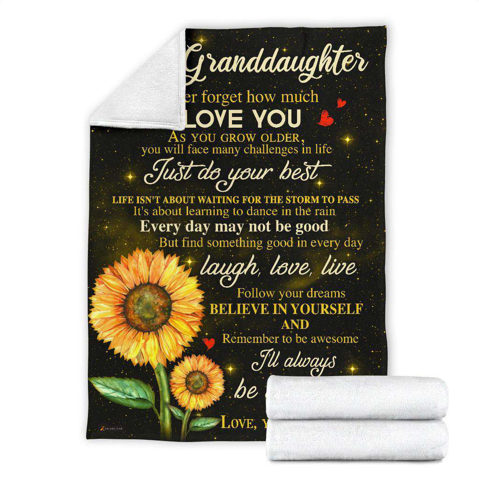 PP - BLANKET - Granddaughter ( Me Mom) - I'll always be with you - yenyenstore