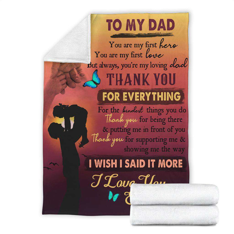 PP - Blanket - To My Dad - Thank You For Everything - yenyenstore