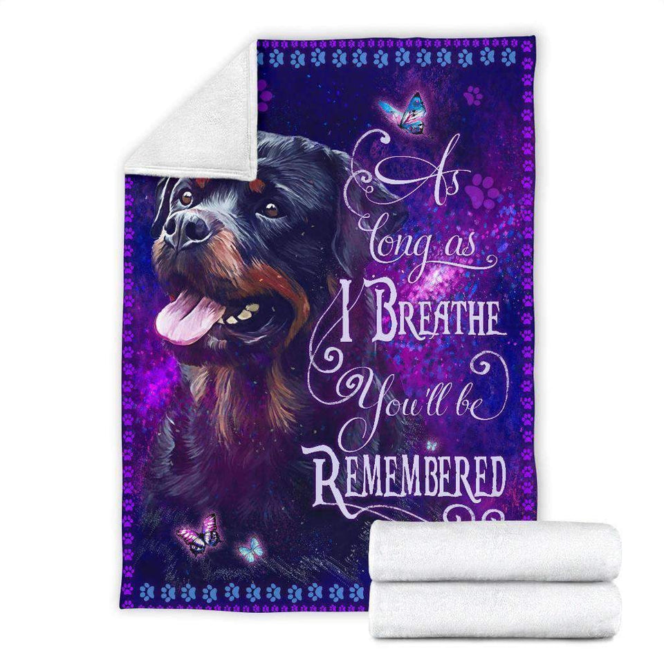 BLANKET - Rottweiler - As long as I Breathe - yenyenstore