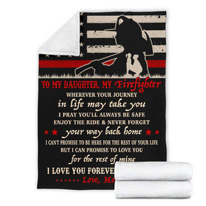 PP - BLANKET - Firefighter Daughter - Wherever your journey in life may take you - yenyenstore